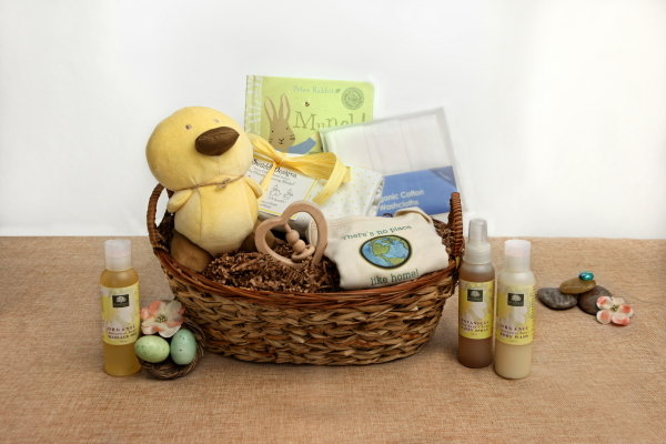 Baby Gift Basket Flowers : Organic baby gift basket flower child