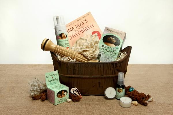 Organic Spa Gift Basket: Pampered Pregnancy | ecochicgiftbaskets.com
