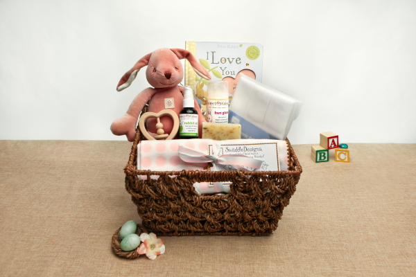 Organic baby gift basket some bunny special ecochicgiftbaskets negle Choice Image