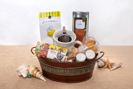 Organic Corporate Gift Basket : Tea Lovers | ecochicgiftbaskets.com
