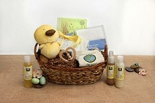 Flower Child Organic Baby Gift Basket