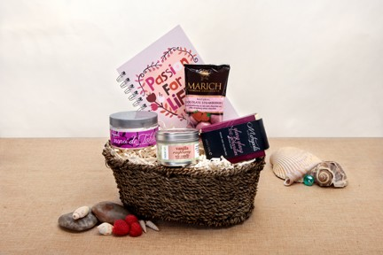 Tickle Someone Pink Organic Gift Basket