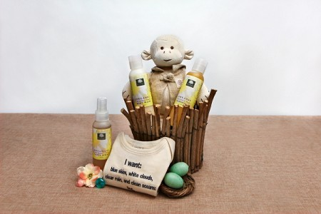 Wild About You Organic Baby Gift Basket